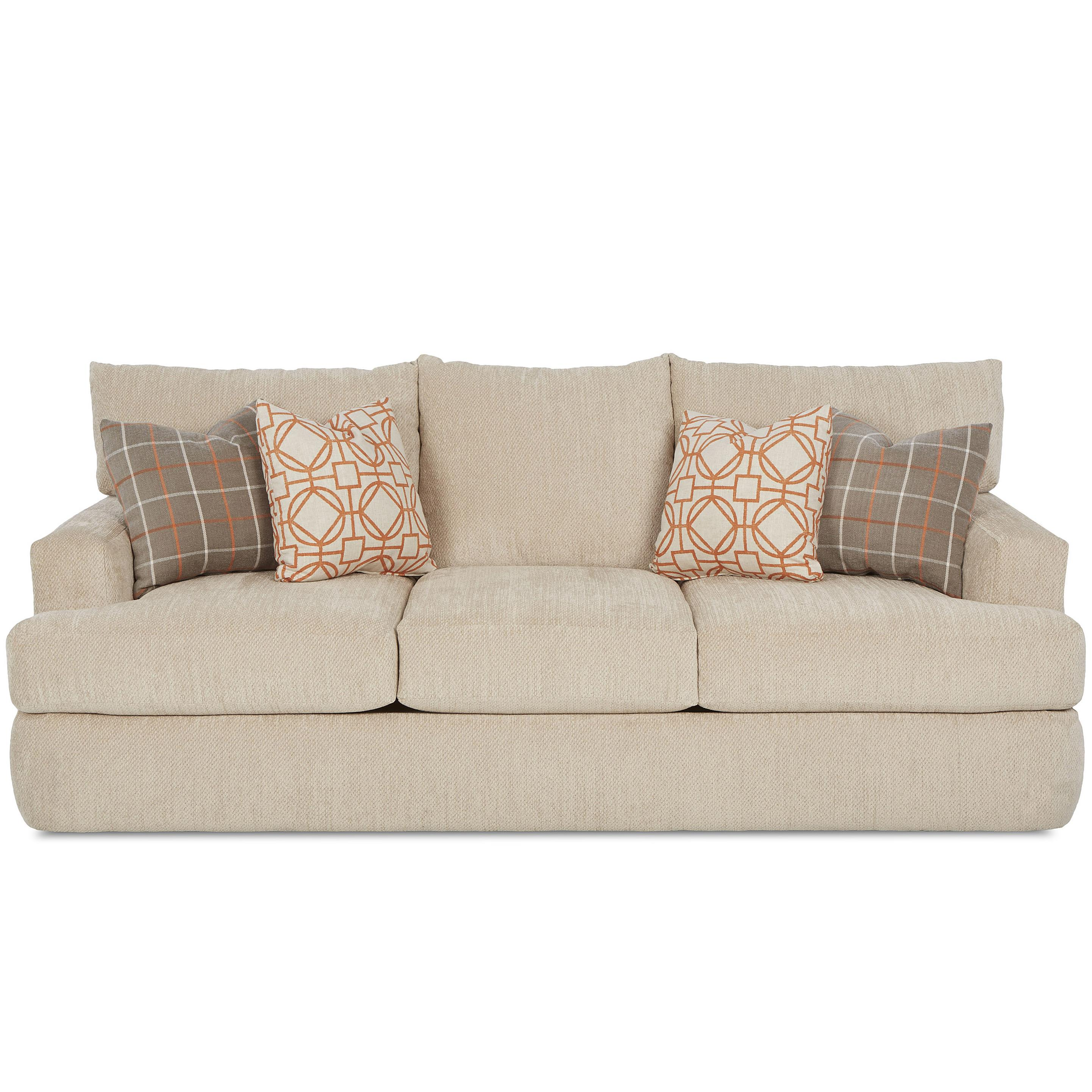 Klaussner Oliver Contemporary Sofa - Item Number: K41400 S - JessieOatmeal