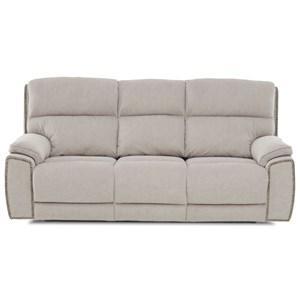 Klaussner Omaha Power Reclining Sofa w/ Nails & Pwr Head/Lum