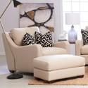 Klaussner Pandora Chair & Ottoman Set - Item Number: D12000 BC+D12000 OTTO-Devon Sand