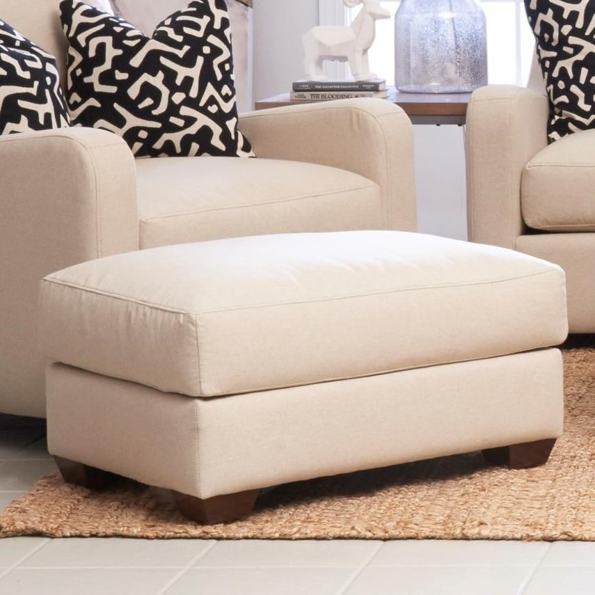 Pandora Ottoman by Klaussner at Dunk & Bright Furniture