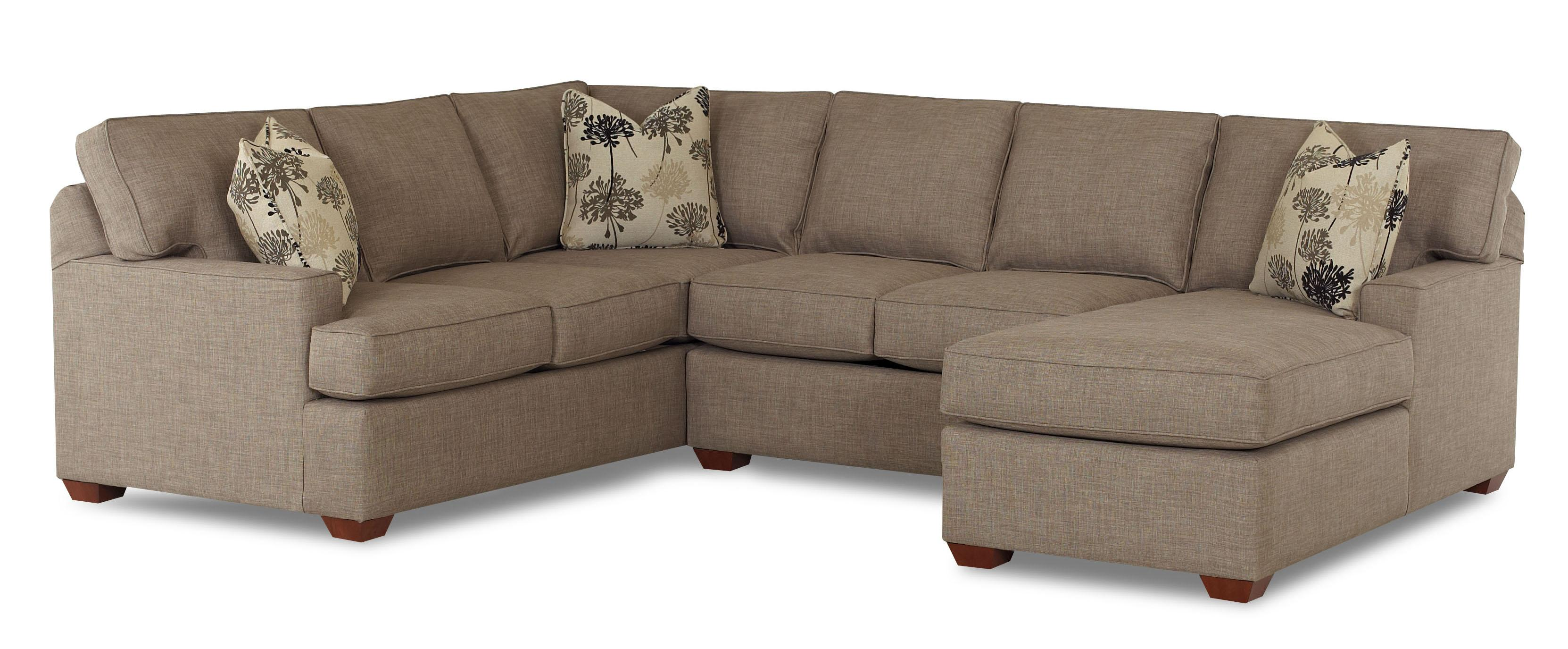 Klaussner Pantego 3 Piece Sectional Sofa With Raf Chaise