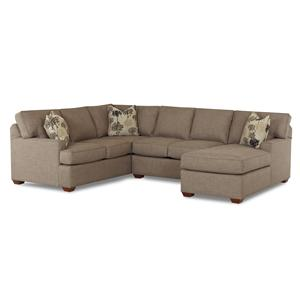 3 Piece Sectional Sofa with RAF Chaise