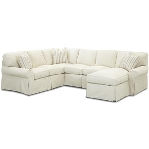 Klaussner Patterns Sectional Sofa
