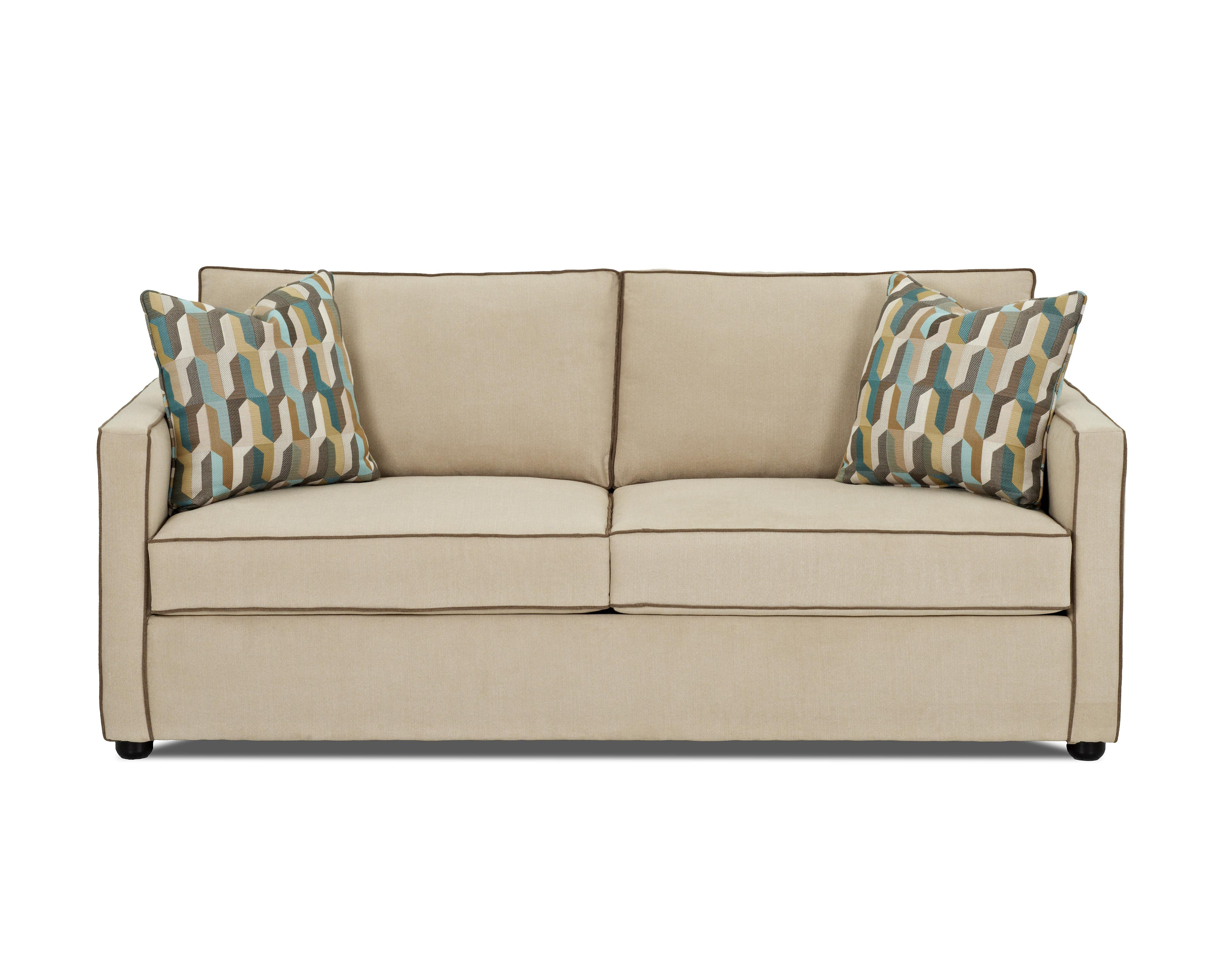Klaussner Pendry Contemporary Queen Dreamquest Sleeper Sofa with