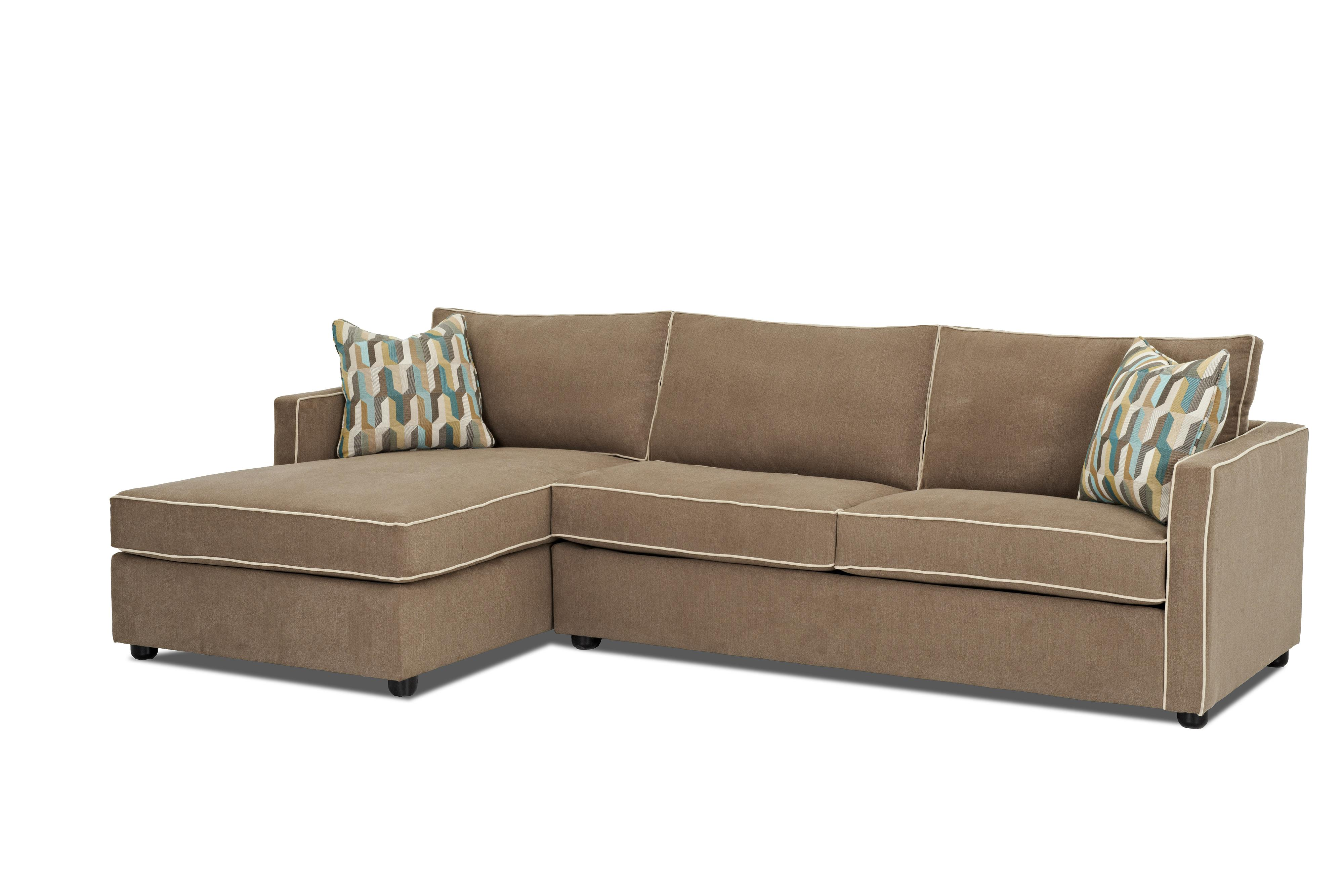 Klaussner Pendry Sectional Sofa with Chaise - Item Number: K89500L CHASE+R S-BrooksideTaupe