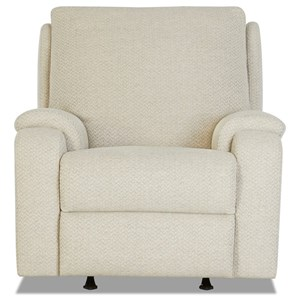 Casual Power Rocking Reclining Chair with Power Headrest / Lumbar & XMS Massage with Heat Therapy
