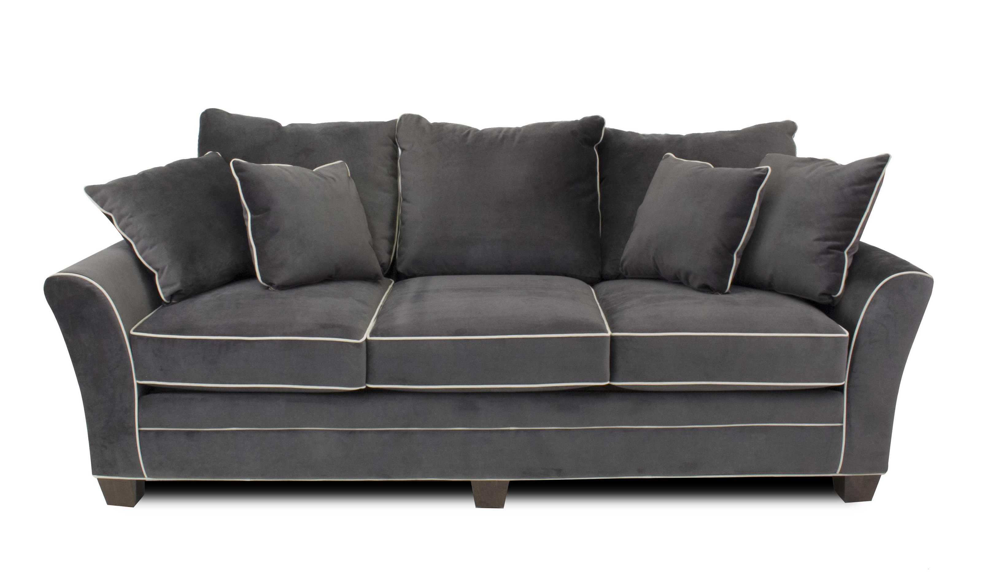 Parker Contemporary Sofa with Block Feet by Metropia at Ruby Gordon Home