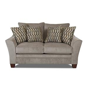 Klaussner Posen Contemporary Loveseat