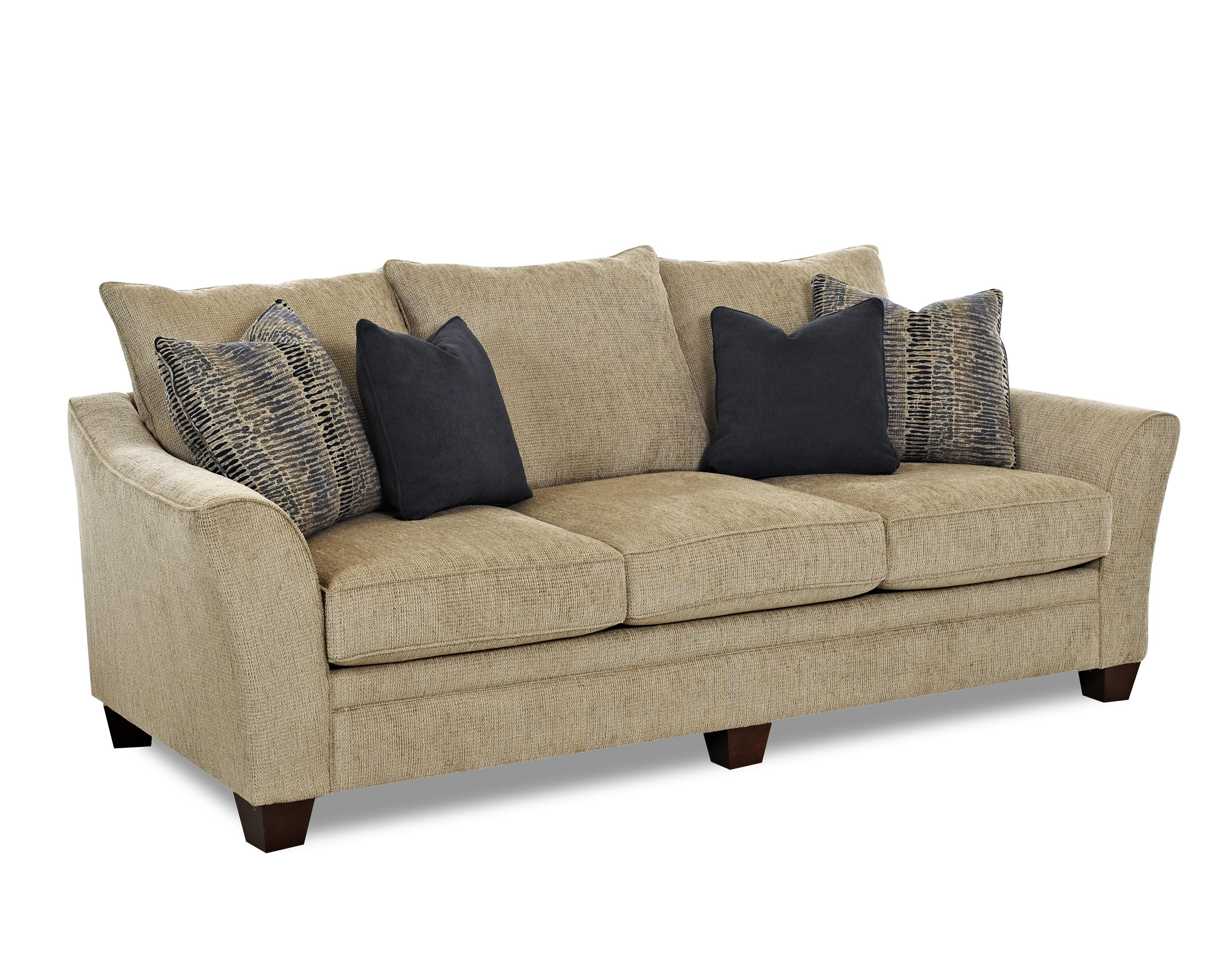 Klaussner Posen Stationary Contemporary Sofa Item Number 83844 S Wootensandstone