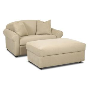 Klaussner Possibilities Chair Sleeper with Ottoman