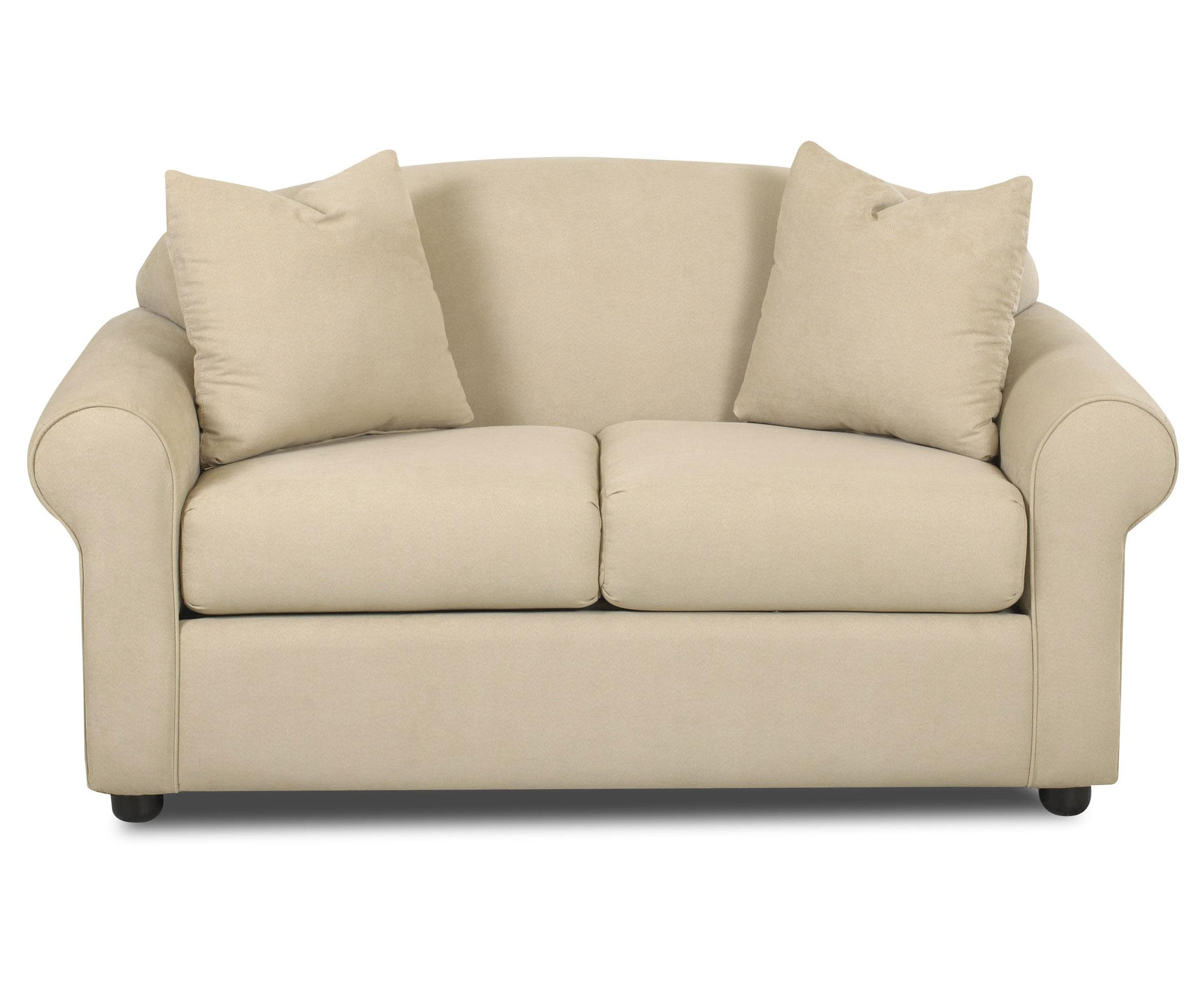 Klaussner Possibilities Low Profile Loveseat With Accent Pillows Wayside Furniture Love Seats