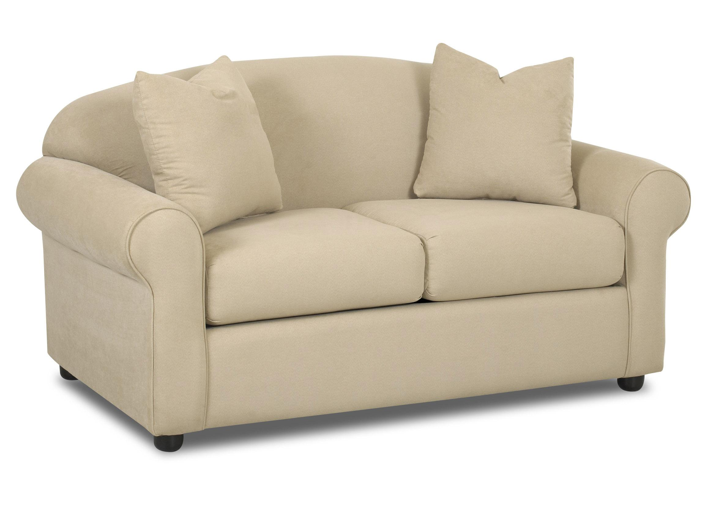 Klaussner Possibilities 500 Ls Low Profile Loveseat With Accent Pillows Dunk Bright