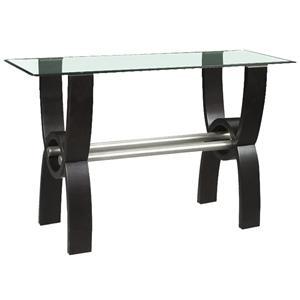 Klaussner International Quantam Glass Top Sofa Table