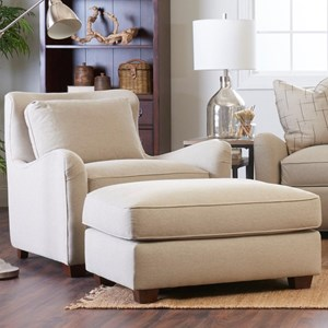 Klaussner Reflection Chair & Ottoman Set