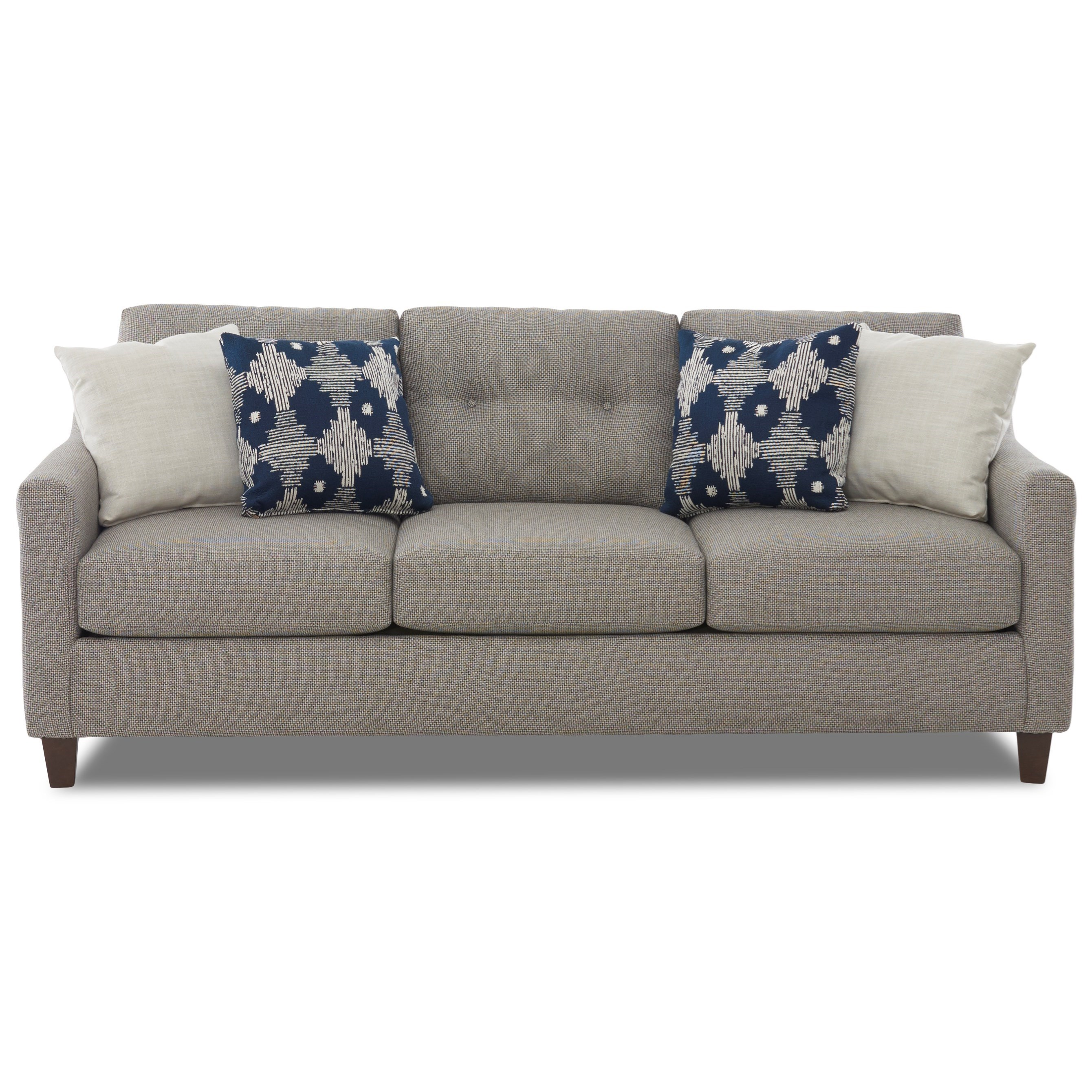 Klaussner Reggie Contemporary Sofa With Loose Tufted Back Cushions