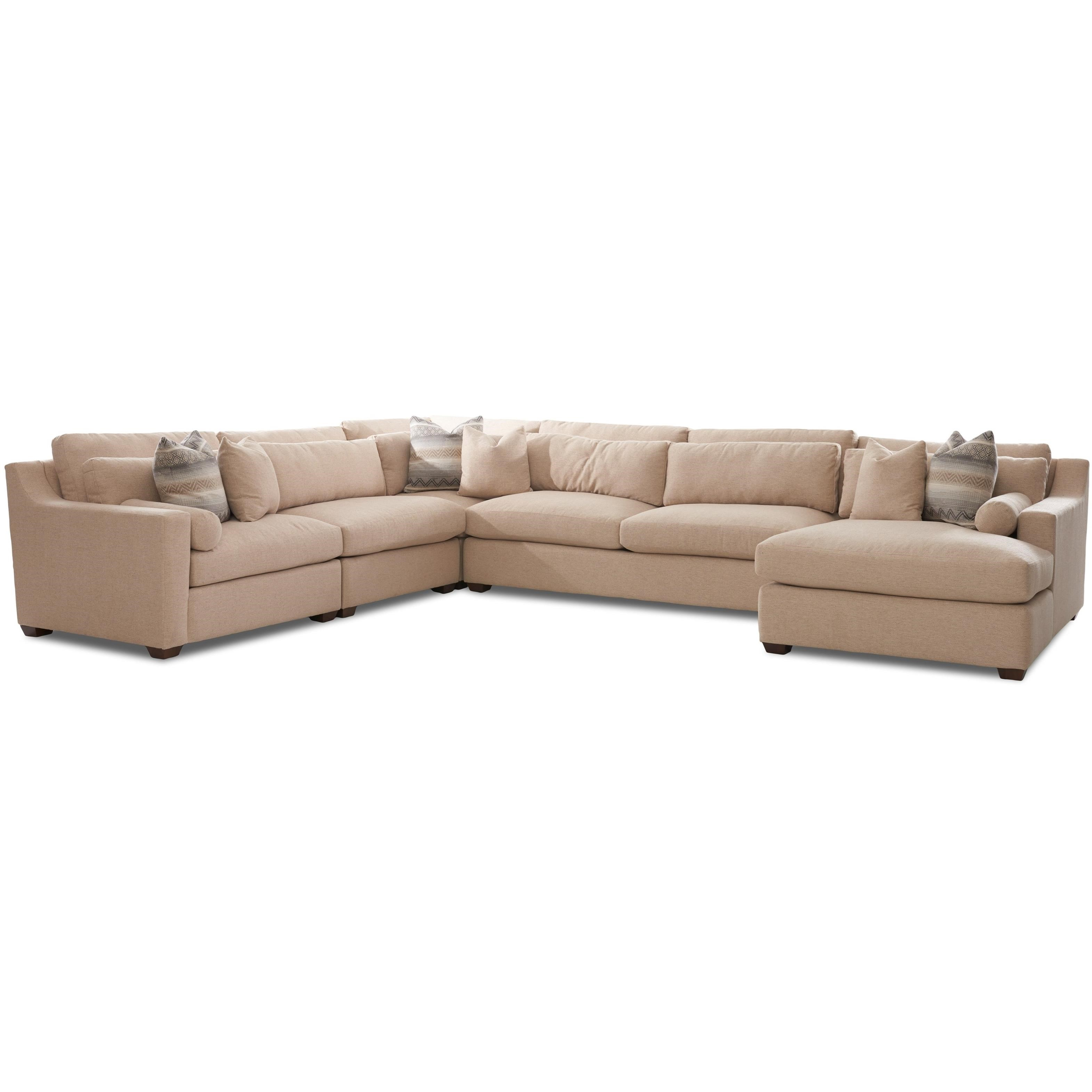 Klaussner Roan Contemporary Sofa Sectional With Right Facing
