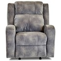 Klaussner Robinson Power Reclining Chair w/ Pwr Head and Lumbar - Item Number: 64943-8 PWRC-HOGAN THUNDER