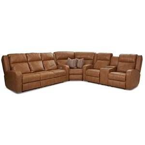 3 Pc Reclining Sectional Sofa w/ Pillows