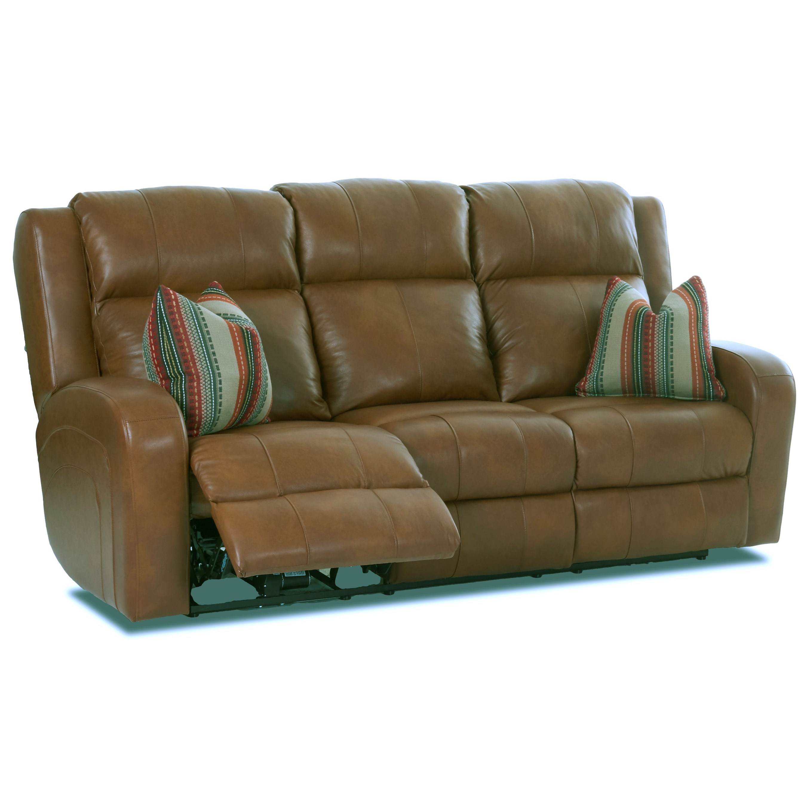 Klaussner Robinson Power Reclining Leather Sofa With Power