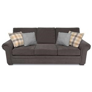 Traditional Roll-Arm Sofa