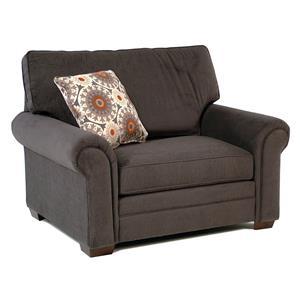 Simple Elegance Suri Big Chair w/ Rolled Arms