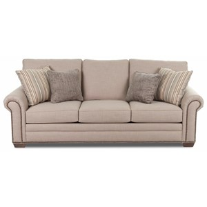 Traditional Sofa with Rolled Arms and Nailhead Studs