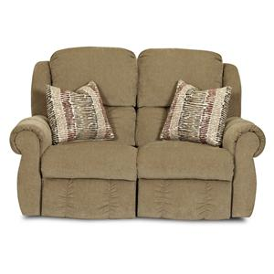 Elliston Place Rowling Casual Reclining Loveseat with Pillows