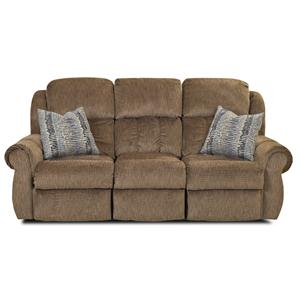 Elliston Place Rowling Casual Reclining Sofa with Table