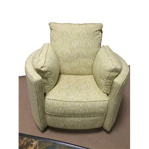Klaussner Ryder Transitional Reclining Swivel Chair