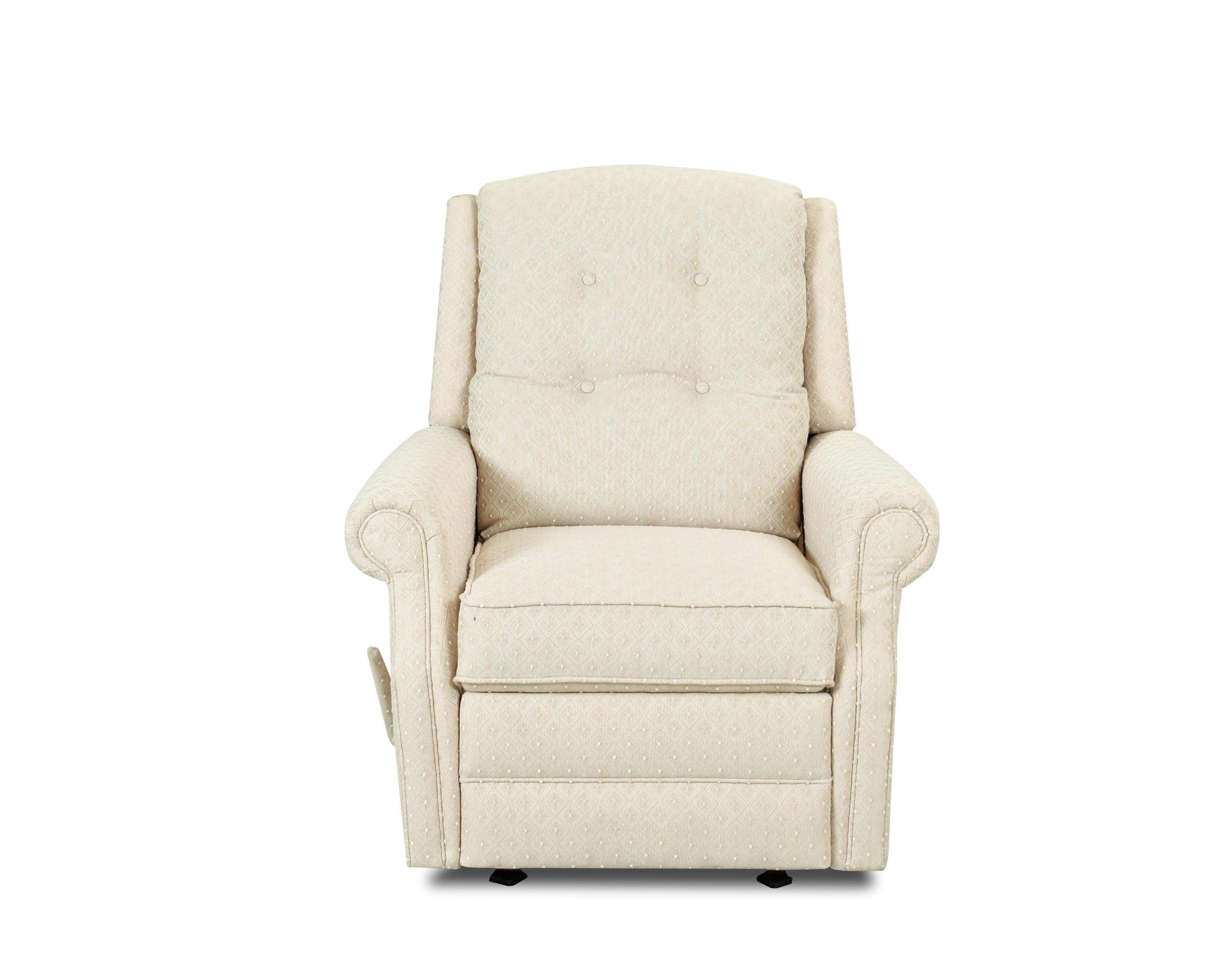 Transitional Manual Swivel Rocking Reclining Chair With