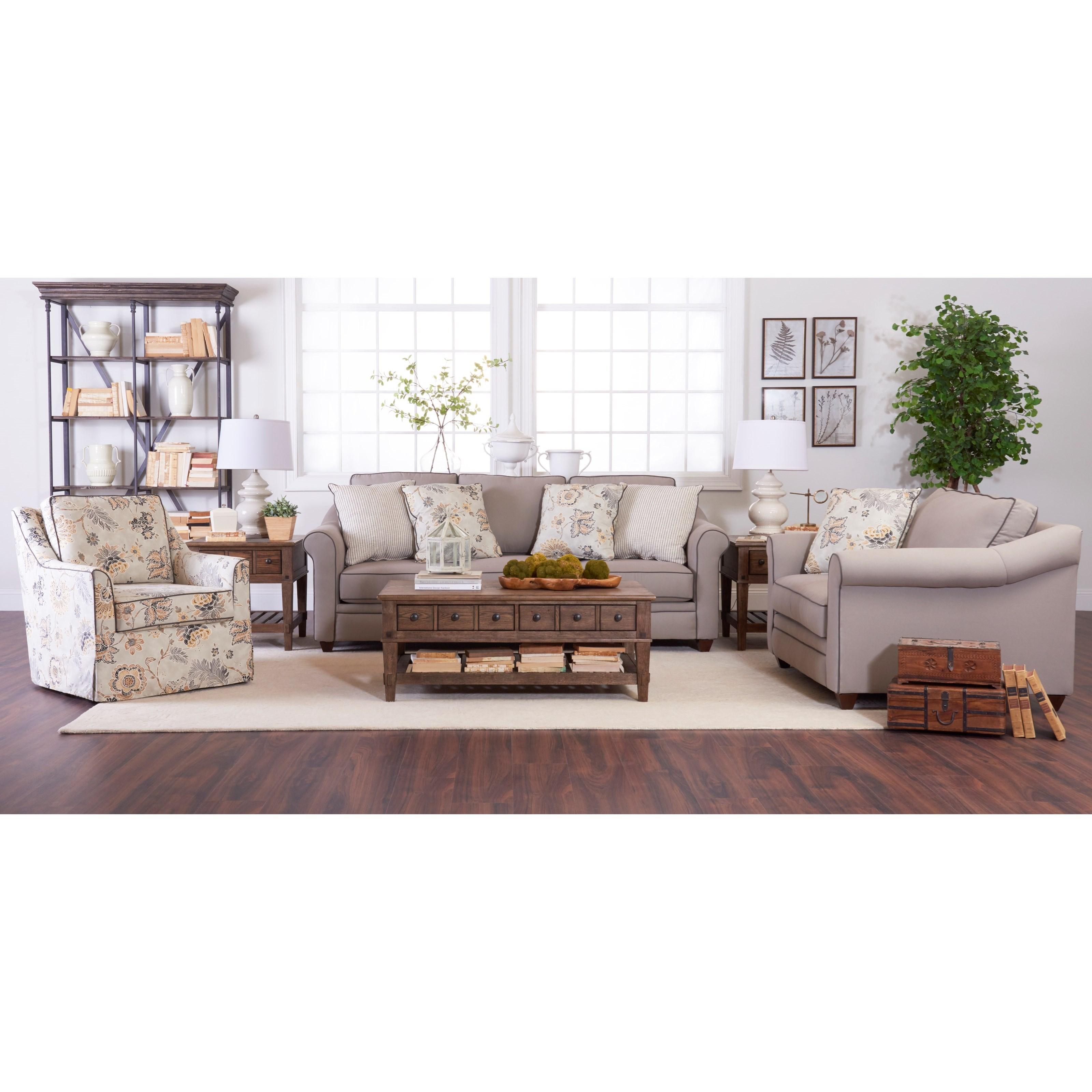Klaussner Sandy Ridge Living Room Group Suburban Furniture Stationary Living Room Groups