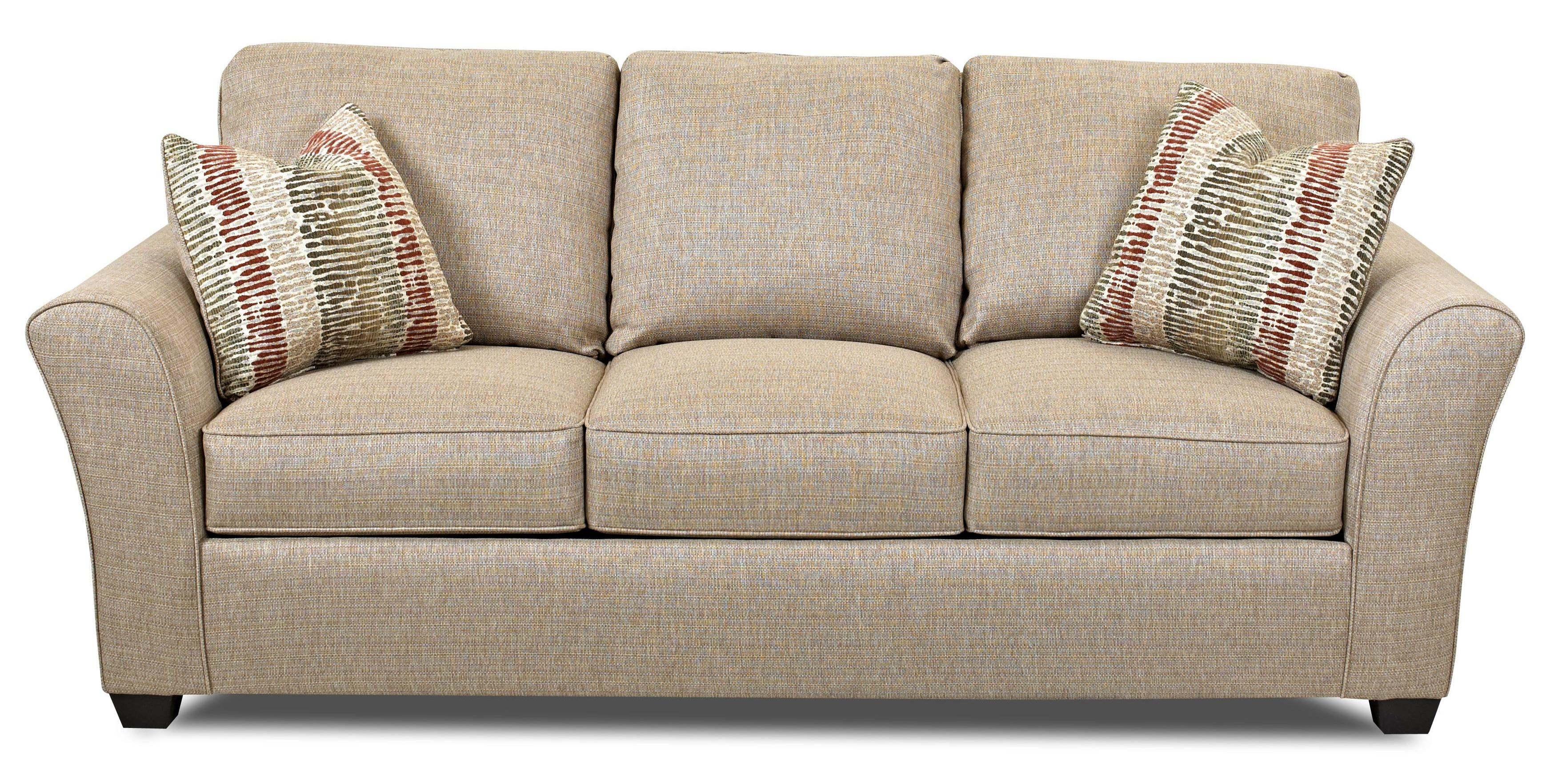 Klaussner Sedgewick Transitional Sofa With Flared Arms