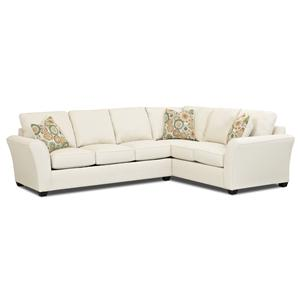 Klaussner Sedgewick Transitional Sectional Sofa
