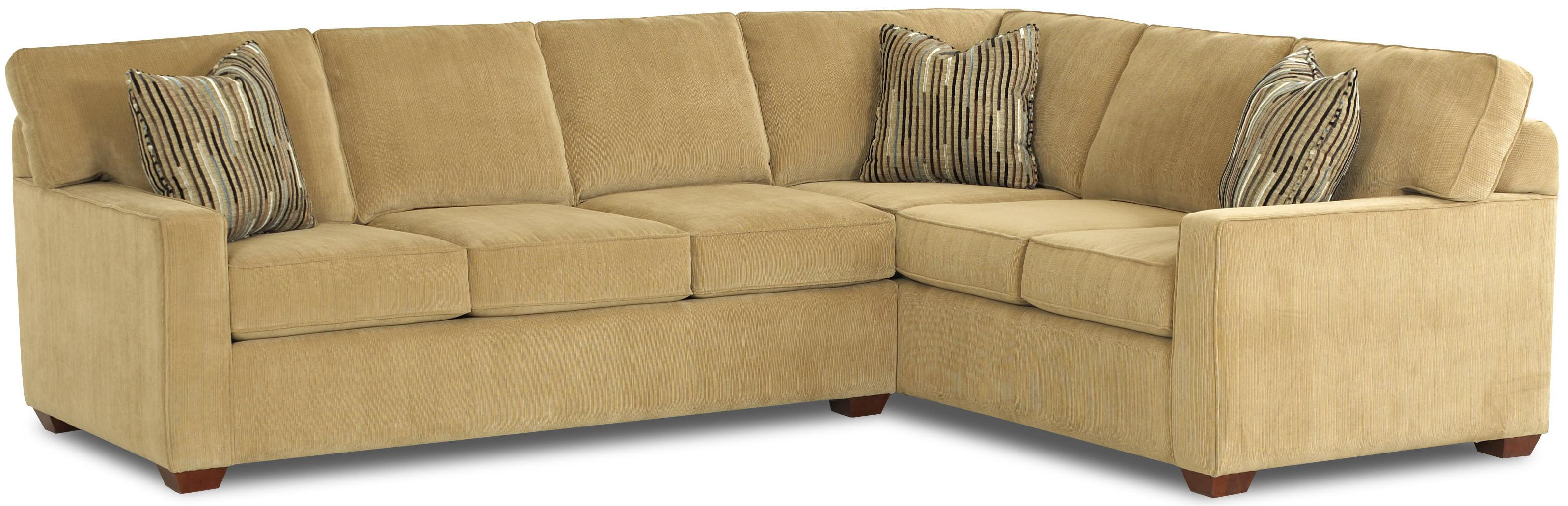Klaussner Selection L-Shaped Contemporary Sectional Sofa ...