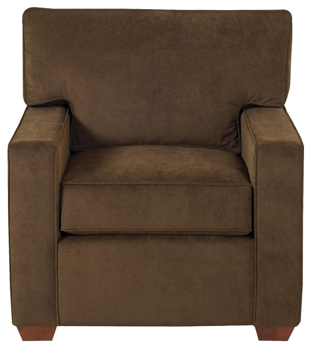 Klaussner selection k50000 c modern living room chair - Modern upholstered living room chairs ...