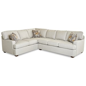 2-Piece Contemporary Sectional Sofa w/ RAF Sofa