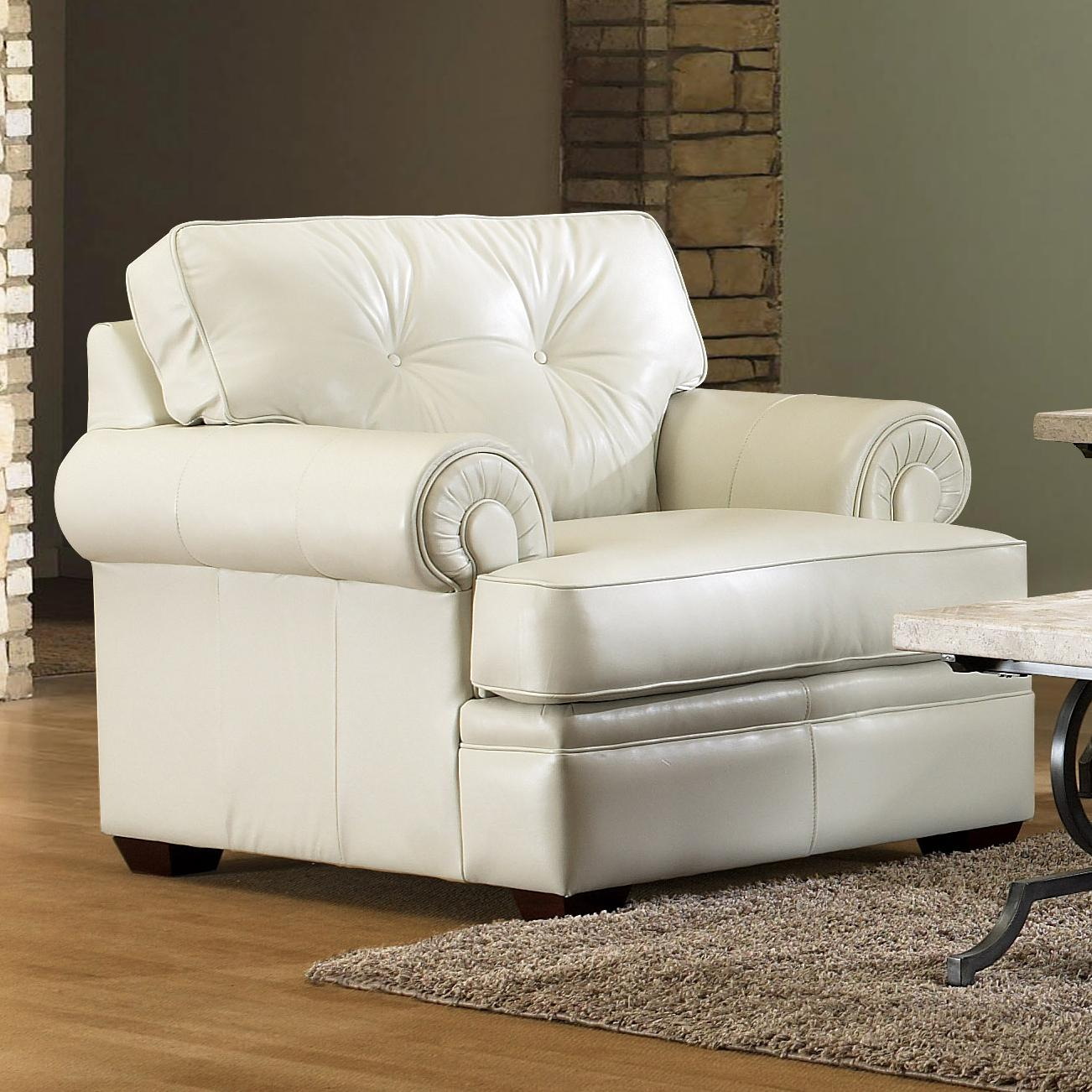 Klaussner Semora Transitional Chair With Button Tufting And Panel Arms Value City Furniture
