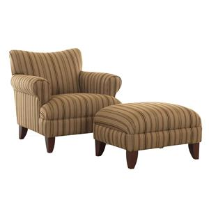 Elliston Place Simone Upholstered Chair and Ottoman