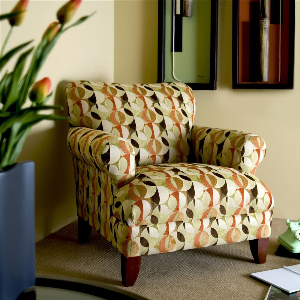 Klaussner simone upholstered chair with rolled arms and for Klaus k living room brunssi