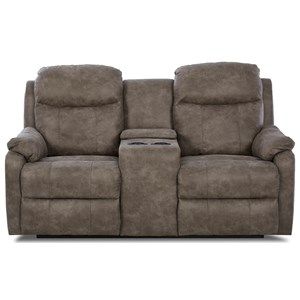 Klaussner Solitaire Power Reclining LS w/ Console & Pwr Head/Lum
