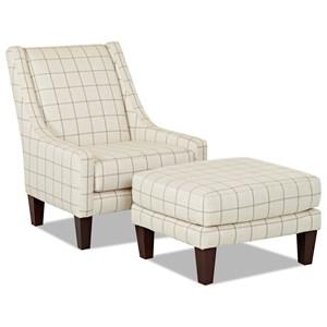 Elliston Place St Cloud Chair & Ottoman Set
