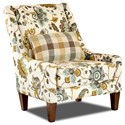 Klaussner St Cloud Occastional Chair w/ Kidney Pillow - Item Number: K11590P OC-MIX ALOE