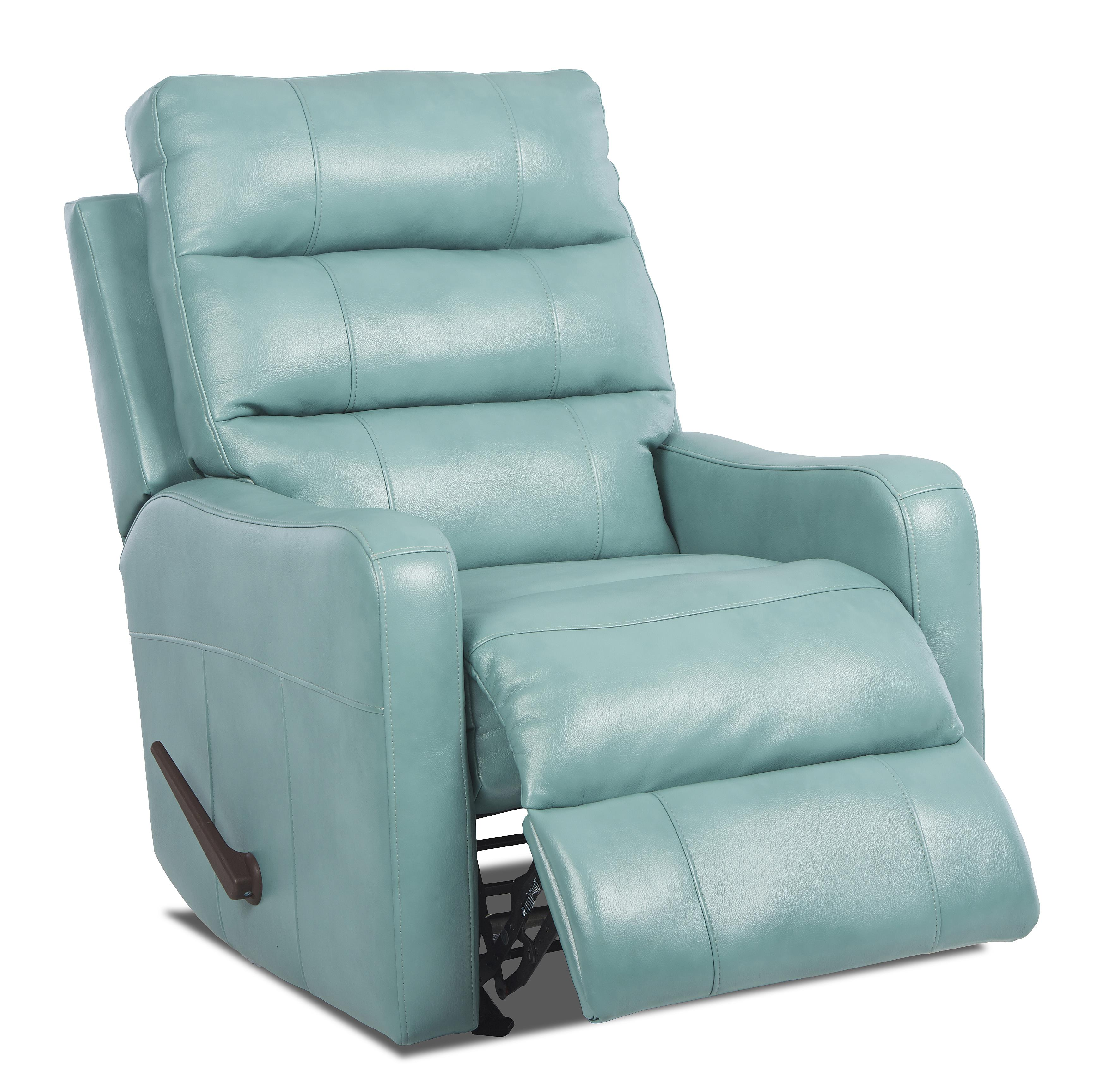 Striker contemporary swivel rocking reclining chair by klaussner wolf furniture - Stylish rocker recliner ...