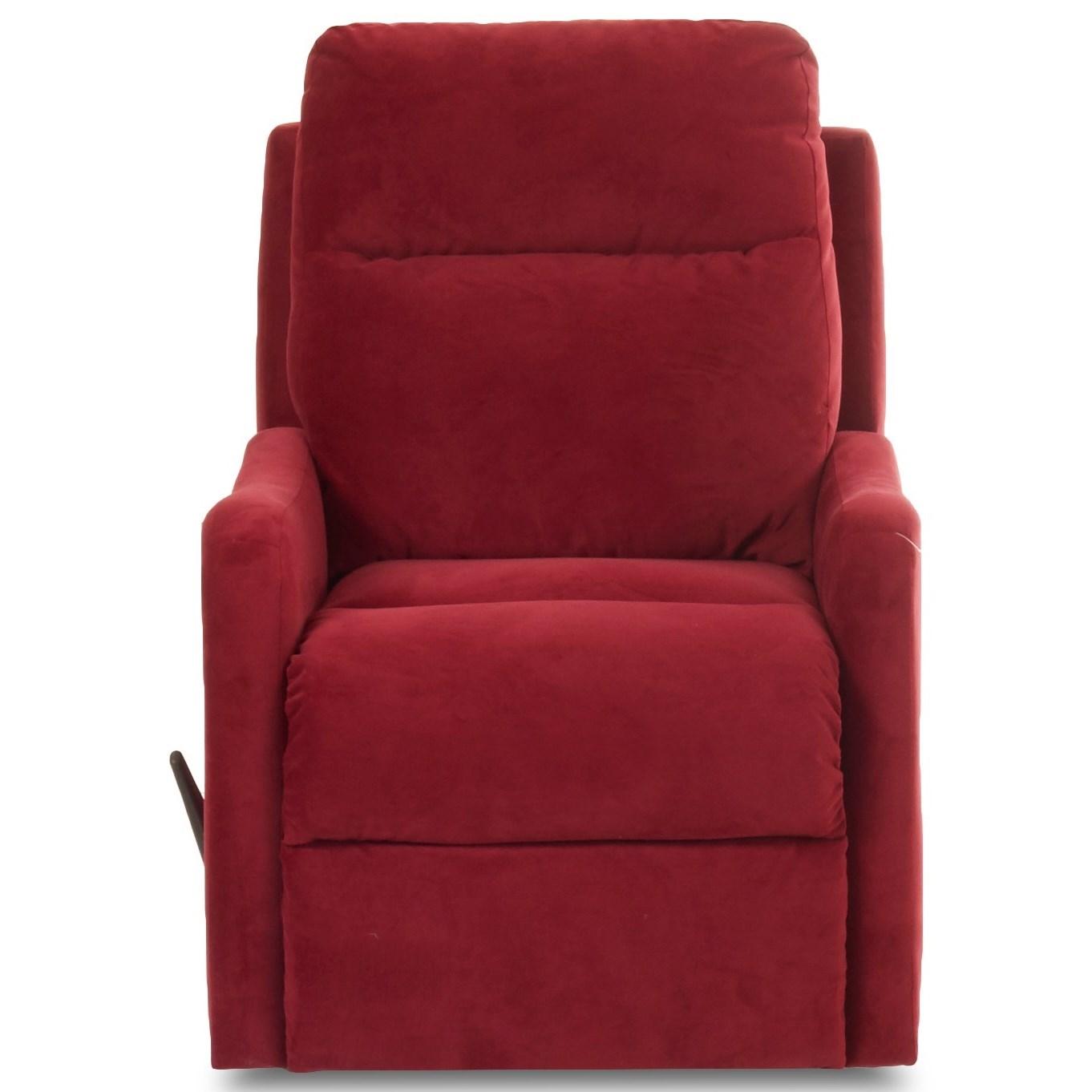 Klaussner Tacoma Reclining Chair - Item Number: 91803H RC-Tina Scarlet