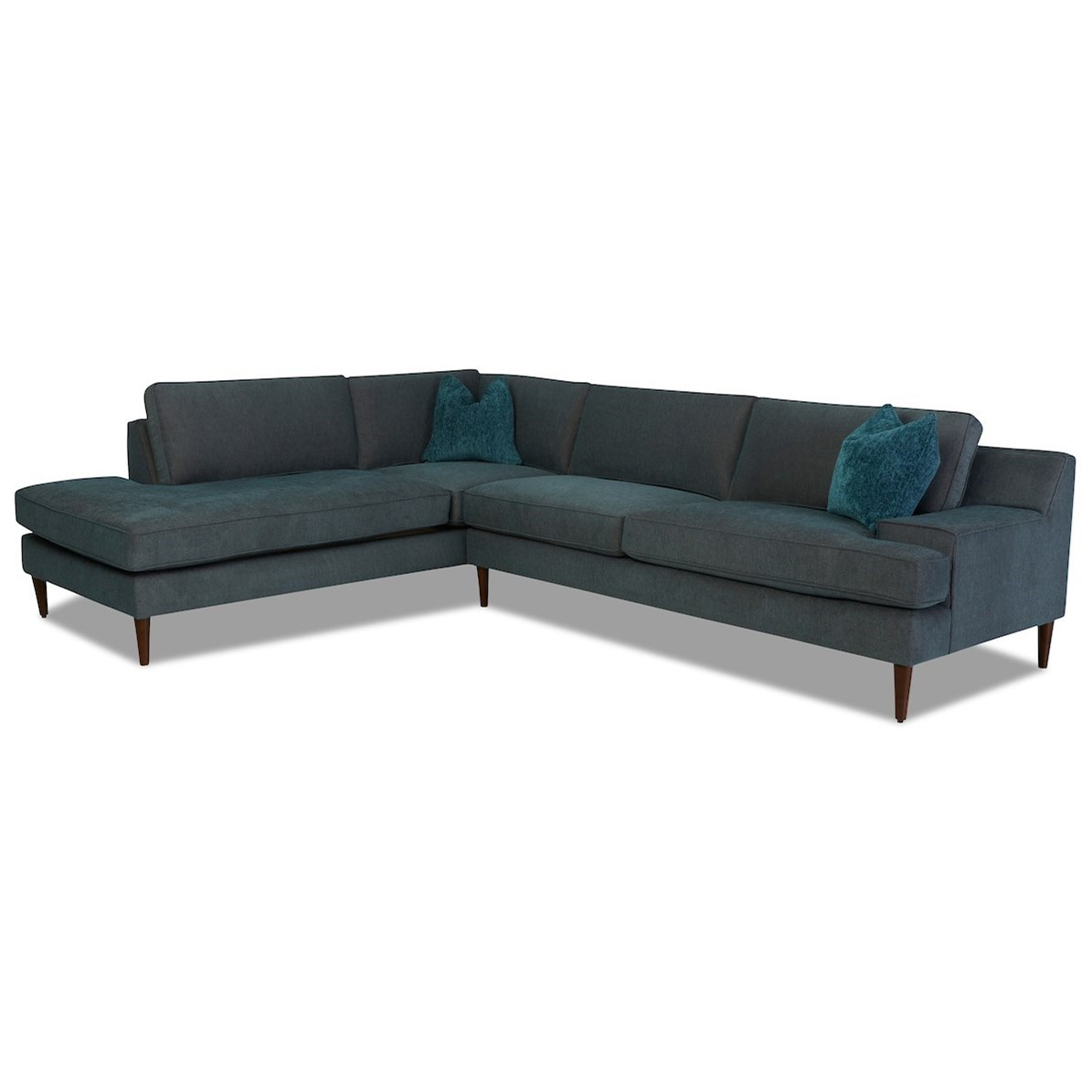 Talon 3-Seat Chaise Sectional w/ LAF Sofa Chaise