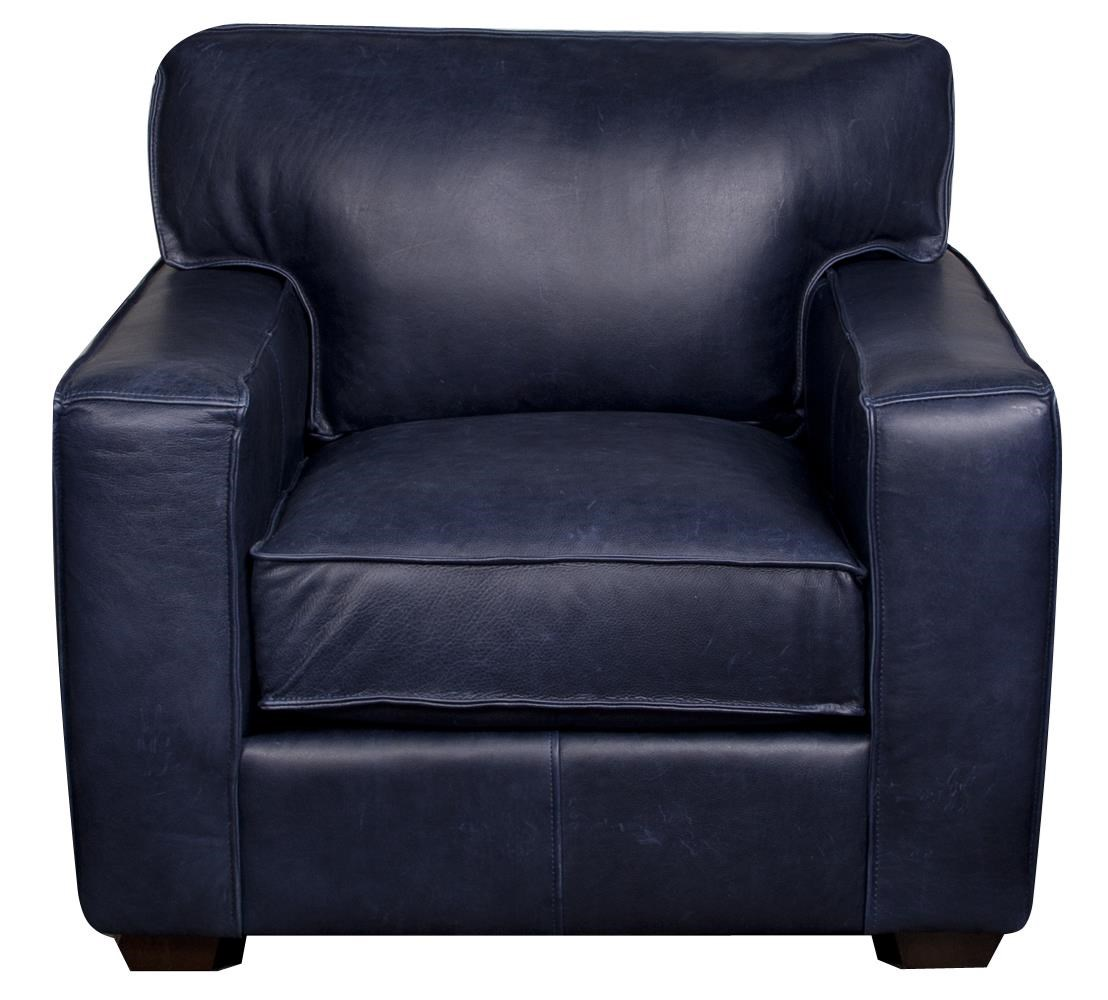 Elliston Place Telford Telford 100% Leather Chair - Item Number: 659813817