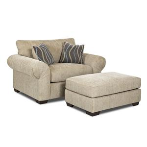 Elliston Place Tiburon  Chair and Ottoman