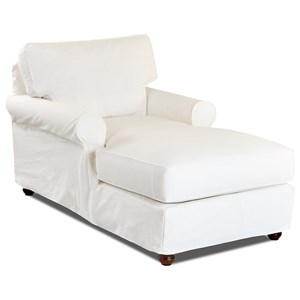 Chaise Lounge w/ Slipcover