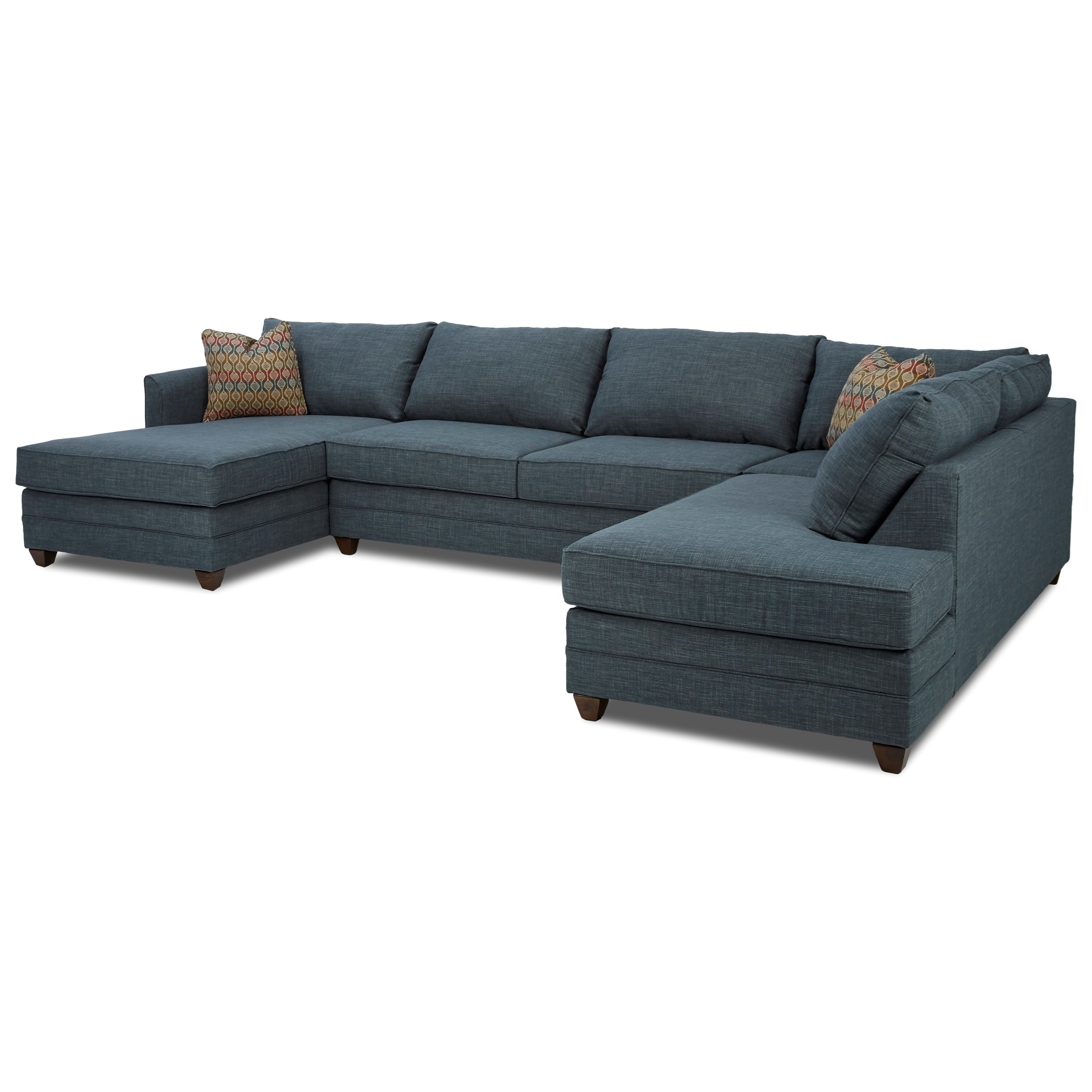 Klaussner tilly three piece sectional sofa with laf chaise for 3pc sectional with chaise