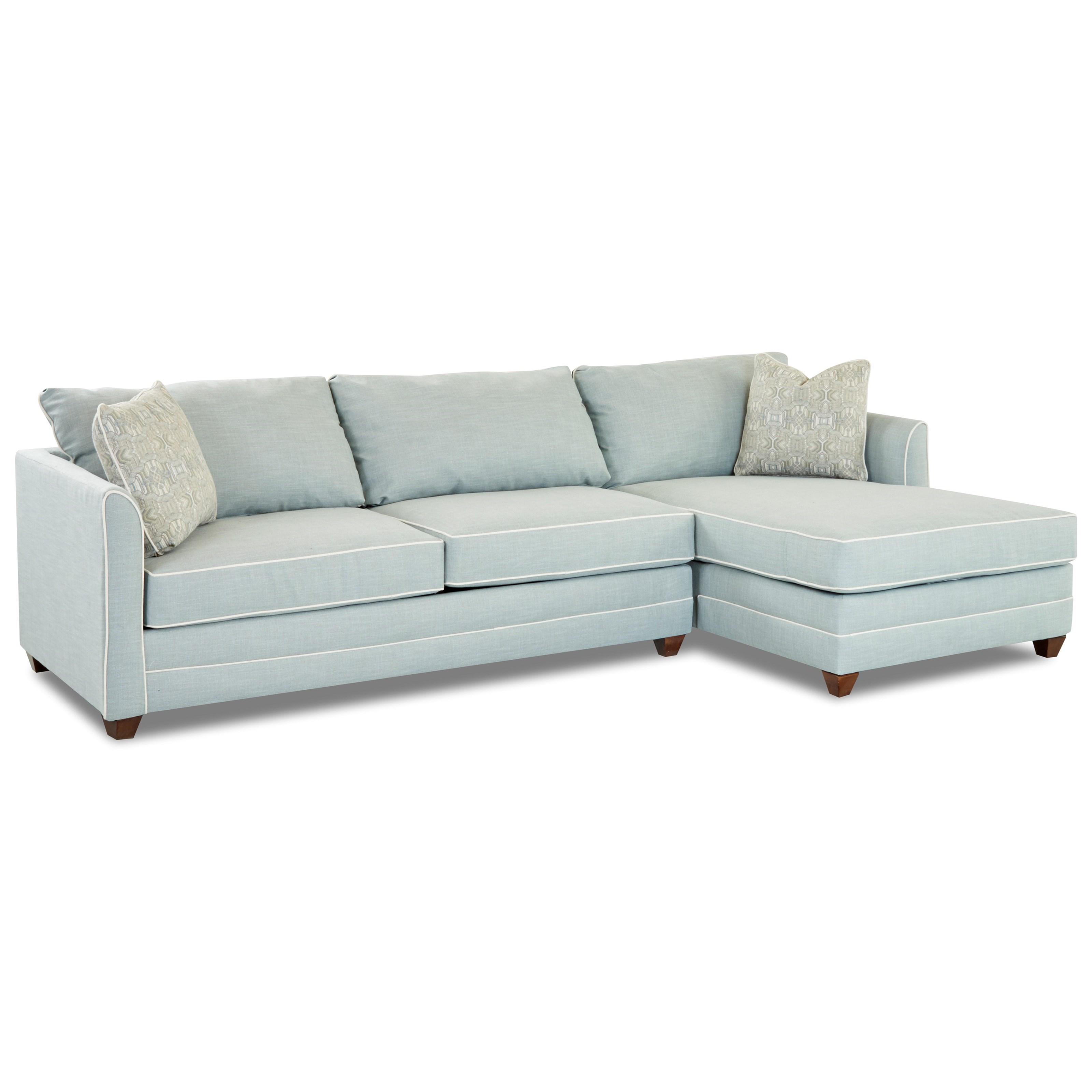 Klaussner Tilly Two Piece Sectional Sofa With Laf Sleeper